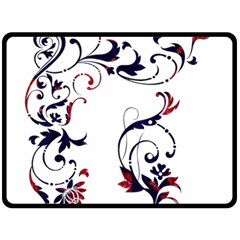 Scroll Border Swirls Abstract Double Sided Fleece Blanket (large)  by Nexatart