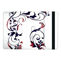 Scroll Border Swirls Abstract Samsung Galaxy Tab Pro 10 1  Flip Case by Nexatart