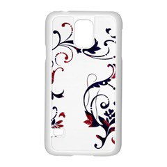 Scroll Border Swirls Abstract Samsung Galaxy S5 Case (white)