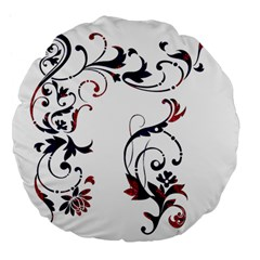 Scroll Border Swirls Abstract Large 18  Premium Flano Round Cushions