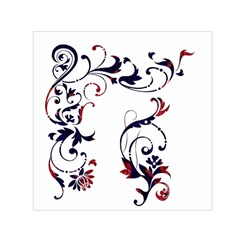 Scroll Border Swirls Abstract Small Satin Scarf (square) by Nexatart