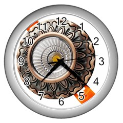 Lighting Commercial Lighting Wall Clocks (silver)  by Nexatart