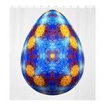 Easter Eggs Egg Blue Yellow Shower Curtain 66  x 72  (Large)  58.75 x64.8 Curtain