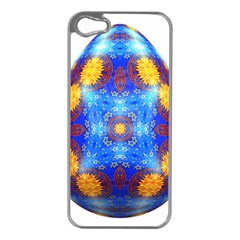 Easter Eggs Egg Blue Yellow Apple Iphone 5 Case (silver)