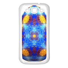 Easter Eggs Egg Blue Yellow Samsung Galaxy S3 Back Case (white) by Nexatart