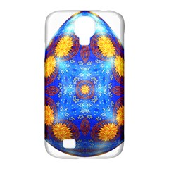 Easter Eggs Egg Blue Yellow Samsung Galaxy S4 Classic Hardshell Case (pc+silicone) by Nexatart