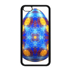 Easter Eggs Egg Blue Yellow Apple Iphone 5c Seamless Case (black) by Nexatart