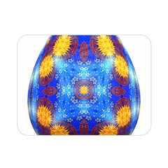 Easter Eggs Egg Blue Yellow Double Sided Flano Blanket (mini)  by Nexatart