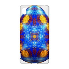 Easter Eggs Egg Blue Yellow Sony Xperia Z3+ by Nexatart