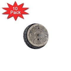 Clock Celtic Knot Time Celtic Knot 1  Mini Buttons (10 Pack)