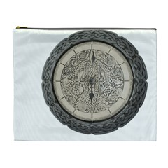 Clock Celtic Knot Time Celtic Knot Cosmetic Bag (xl) by Nexatart