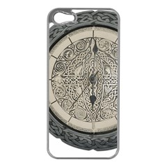 Clock Celtic Knot Time Celtic Knot Apple Iphone 5 Case (silver) by Nexatart