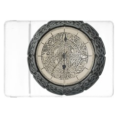 Clock Celtic Knot Time Celtic Knot Samsung Galaxy Tab 8 9  P7300 Flip Case