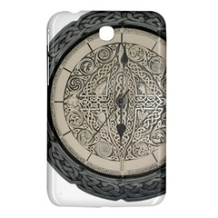 Clock Celtic Knot Time Celtic Knot Samsung Galaxy Tab 3 (7 ) P3200 Hardshell Case  by Nexatart