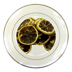 Lemon Dried Fruit Orange Isolated Porcelain Plates by Nexatart