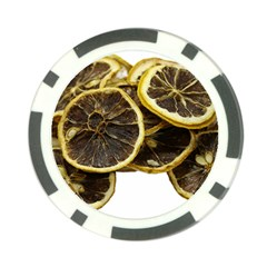 Lemon Dried Fruit Orange Isolated Poker Chip Card Guard (10 Pack) by Nexatart