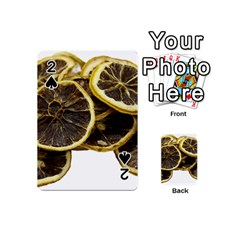 Lemon Dried Fruit Orange Isolated Playing Cards 54 (mini)  by Nexatart