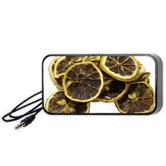 Lemon Dried Fruit Orange Isolated Portable Speaker (black) by Nexatart