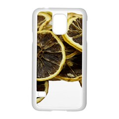 Lemon Dried Fruit Orange Isolated Samsung Galaxy S5 Case (white) by Nexatart