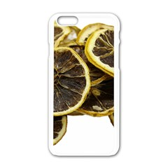 Lemon Dried Fruit Orange Isolated Apple Iphone 6/6s White Enamel Case by Nexatart