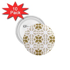 Pattern Gold Floral Texture Design 1 75  Buttons (10 Pack) by Nexatart