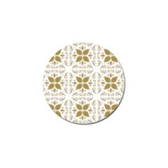 Pattern Gold Floral Texture Design Golf Ball Marker (10 Pack) by Nexatart