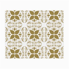 Pattern Gold Floral Texture Design Small Glasses Cloth by Nexatart