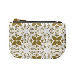 Pattern Gold Floral Texture Design Mini Coin Purses by Nexatart