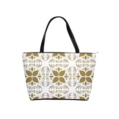 Pattern Gold Floral Texture Design Shoulder Handbags by Nexatart