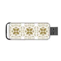 Pattern Gold Floral Texture Design Portable Usb Flash (two Sides) by Nexatart