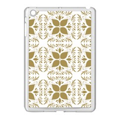 Pattern Gold Floral Texture Design Apple Ipad Mini Case (white) by Nexatart