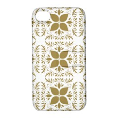 Pattern Gold Floral Texture Design Apple Iphone 4/4s Hardshell Case With Stand by Nexatart