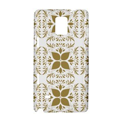 Pattern Gold Floral Texture Design Samsung Galaxy Note 4 Hardshell Case