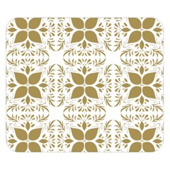 Pattern Gold Floral Texture Design Double Sided Flano Blanket (small)  by Nexatart