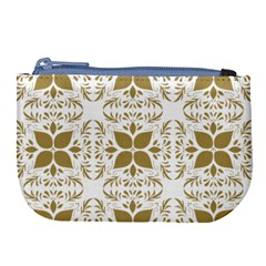 Pattern Gold Floral Texture Design Large Coin Purse