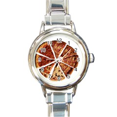 Food Fast Pizza Fast Food Round Italian Charm Watch by Nexatart