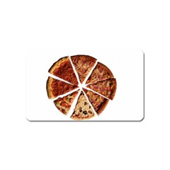 Food Fast Pizza Fast Food Magnet (name Card) by Nexatart