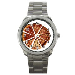 Food Fast Pizza Fast Food Sport Metal Watch by Nexatart