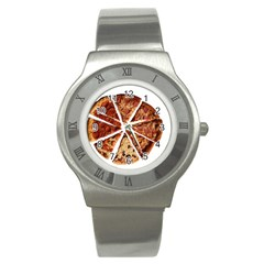 Food Fast Pizza Fast Food Stainless Steel Watch