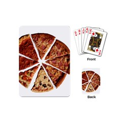 Food Fast Pizza Fast Food Playing Cards (mini)