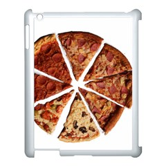 Food Fast Pizza Fast Food Apple Ipad 3/4 Case (white) by Nexatart