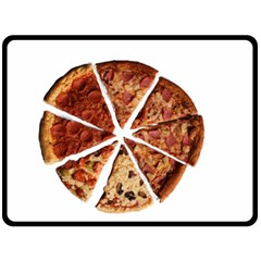 Food Fast Pizza Fast Food Double Sided Fleece Blanket (large)  by Nexatart