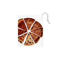 Food Fast Pizza Fast Food Drawstring Pouches (xs)  by Nexatart