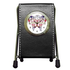Butterfly Nature Abstract Beautiful Pen Holder Desk Clocks