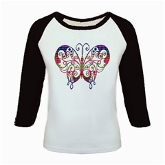 Butterfly Nature Abstract Beautiful Kids Baseball Jerseys