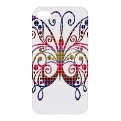 Butterfly Nature Abstract Beautiful Apple Iphone 4/4s Premium Hardshell Case by Nexatart