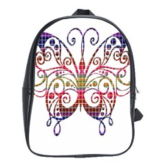 Butterfly Nature Abstract Beautiful School Bags (xl)  by Nexatart