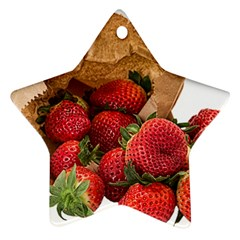 Strawberries Fruit Food Delicious Ornament (star) by Nexatart
