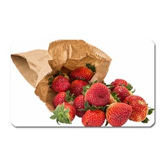 Strawberries Fruit Food Delicious Magnet (rectangular) by Nexatart