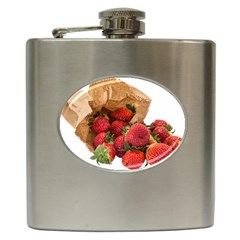 Strawberries Fruit Food Delicious Hip Flask (6 Oz)